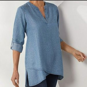 Soft Surroundings Chambray Top
